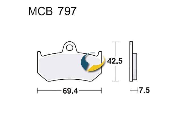 Bremsbeläge Lucas SH MCB797SH » MV AGUSTA F4 1000 F4 1078