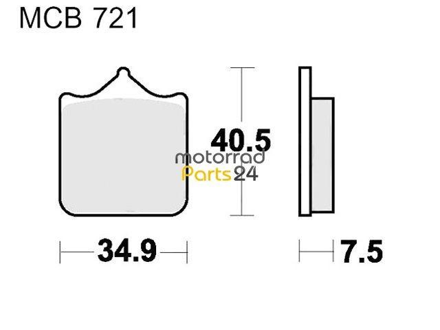 Bremsbeläge Lucas SV MCB721SV MP24 DUCATI MONSTER 1000