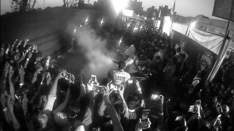 Clickpro Polar - A screenshot taken off the video footage from ISF 2015 - Burnout Competition.