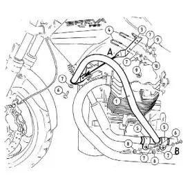 Hepco & Becker Engine Guard Moto Guzzi Breva V 750 ie in Black