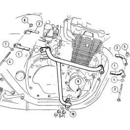 Hepco & Becker Engine Guard Honda CB 1300 up to 02'