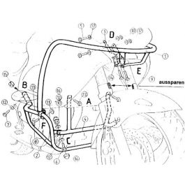 Hepco & Becker Engine Guard Honda NT 650 V Deauville
