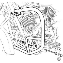 Hepco & Becker Engine Guard Yamaha XVS 1100 A Dragstar Classic