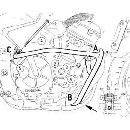 Hepco & Becker Engine Guard Honda CB 600 F Hornet / S up