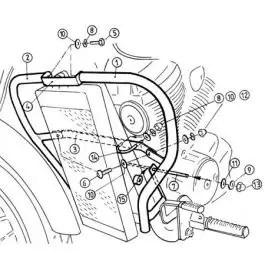 Hepco & Becker Engine Guard Honda VT 750 D2 Black Widow