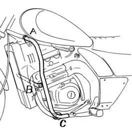 Hepco & Becker Engine Guard Kawasaki EL 250 / 252