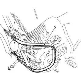 Hepco & Becker Engine Guard Yamaha XT 600 E / K from 90'
