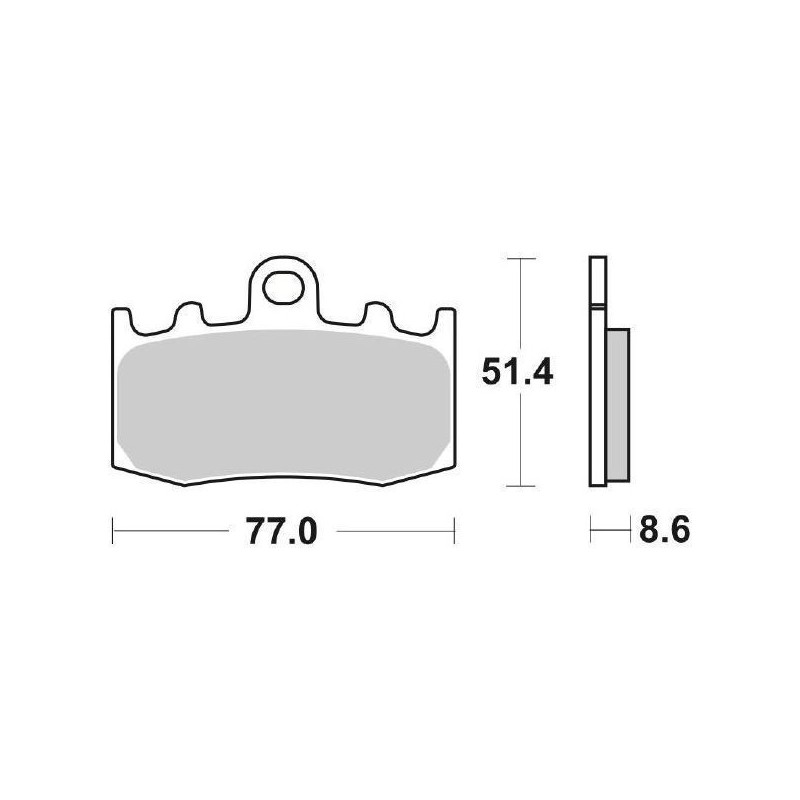 SBS 796 HS SINTERED FRONT PADS SET FOR BMW R 1200 GS 2008