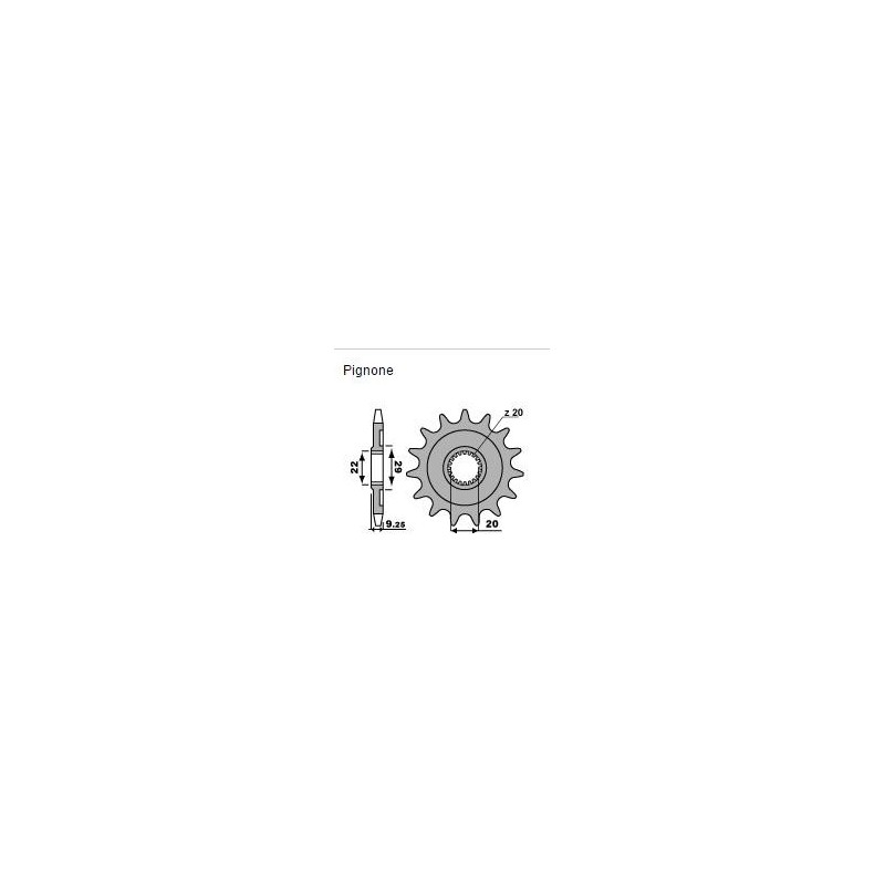 STEEL FRONT SPROCKET FOR CHAIN 520 FOR KAWASAKI KX 250 F