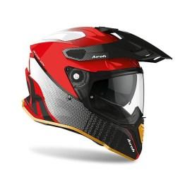Casco Integrale On-Off Moto Touring Airoh COMMANDER Progress Special Edition Rosso Lucido
