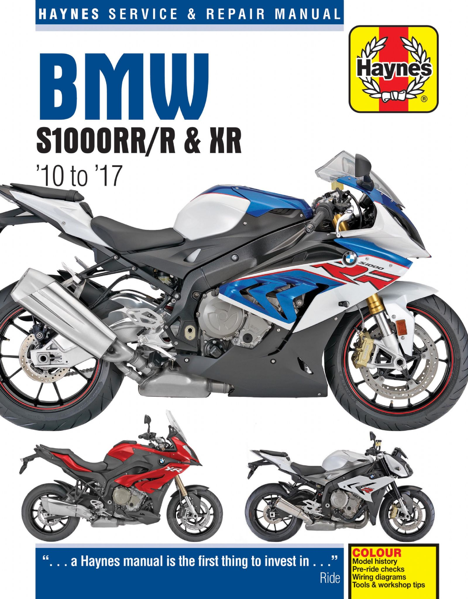 hight resolution of bmw s1000rr r xr 10 to 17 haynes repair manual 2012 bmw s1000rr wiring diagram s1000rr wiring diagram