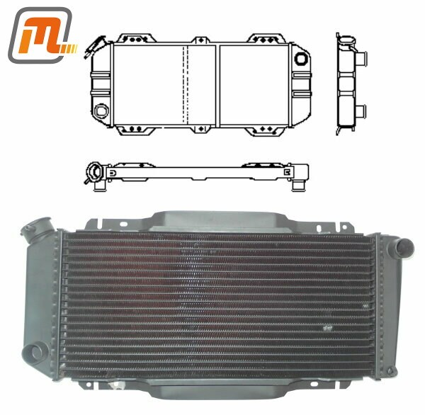 Motomobil GmbH > Products > radiator OHV 1,0-1,1l 29-39kW