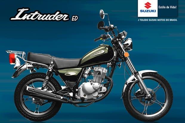Material publicitário da Suzuki para a Intruder 125