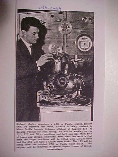 RM examines a 250 engine