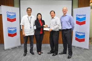 Chevron donates P1 million to Red Cross for rebuilding communities damaged by Typhoon Lando