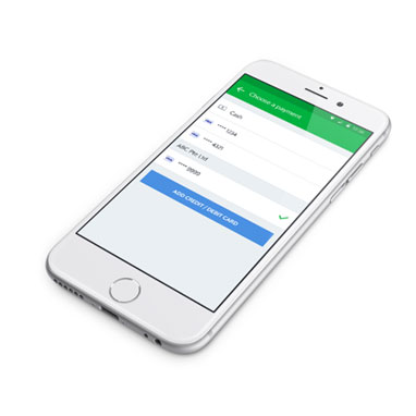 Select preferred payment mode via the Grab app
