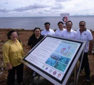Caltex Poro Marine Protected Area Marker Unveiled –  Declares Environmental Sustainability Measures