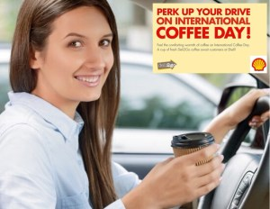 Get a much-needed energy boost at Shell on International Coffee Day