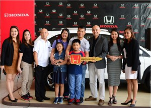A brand new BR-V awarded to Honda's Most Wonderful Deal of the Year grand winner