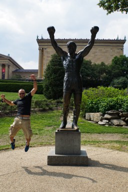Famous Rocky Statue in front of the Philly Art Museum