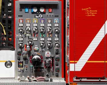 American fire truck control panel