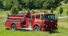 Old fire truck in VA countryside