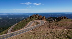 Nice views over Colorado and curvy roads to the top
