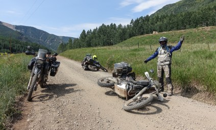 Multigravity spot. The Mule Pack Panniers can take quite some impacts, sliding and lugging around!