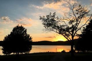 The county campground in Tennessee offered swimming and a beautiful sunset