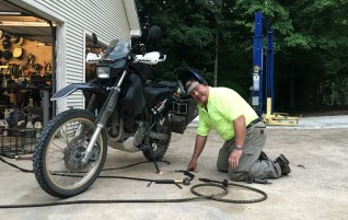 In Alabama I stayed with Clyde who was happy to weld a few improvements to my bike