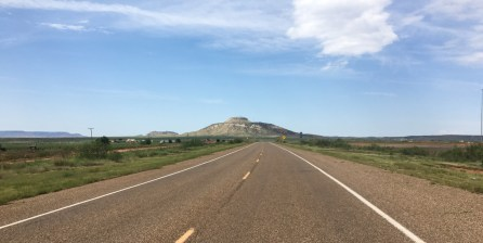 Coming in to New Mexico I finally saw some different landscapes - Prairie and big rocks