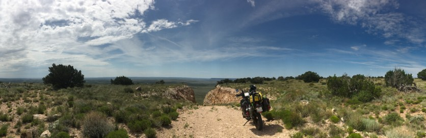 Made it to the top after a really steep incline with big rocks...