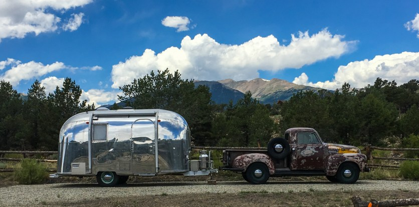 Old school truck and trailer