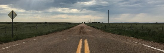 Route 66 turned from asphalt into gravel