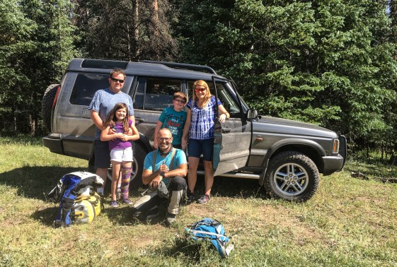After Pascal got my DR to the top I hitched a ride with this family in their Landrover