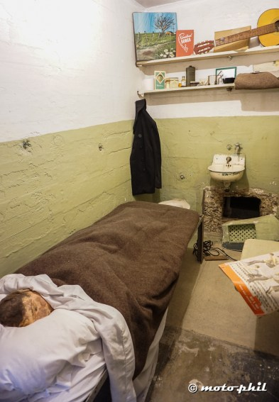 Break out cell: The prisoners fabricated dummy heads and used spoons to enlarge the AC hole in the wall to escape