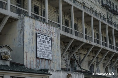 Only specified boats were allowed close to Alcatraz Island