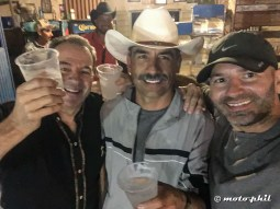 Charly, Jesus and moto.phil enjoying a tequila