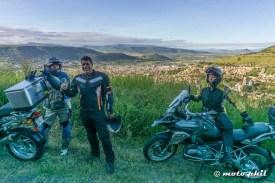 Three GS riders in front of the view on Atotonilco el Alto