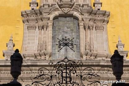 Shawods of the gates of the Basilica in Guanajuato