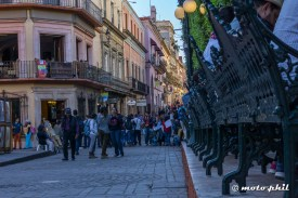 Street scene at Jardin de la Union