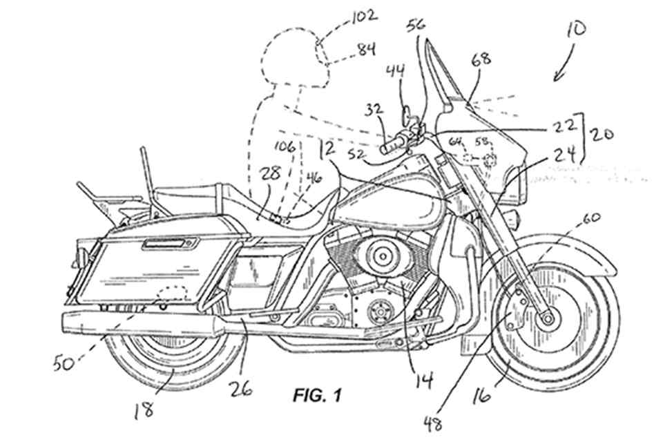 Harley-Davidson files patent for Automatic Emergency