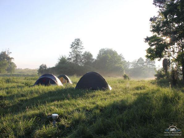 Camping nad rzeką Wkra