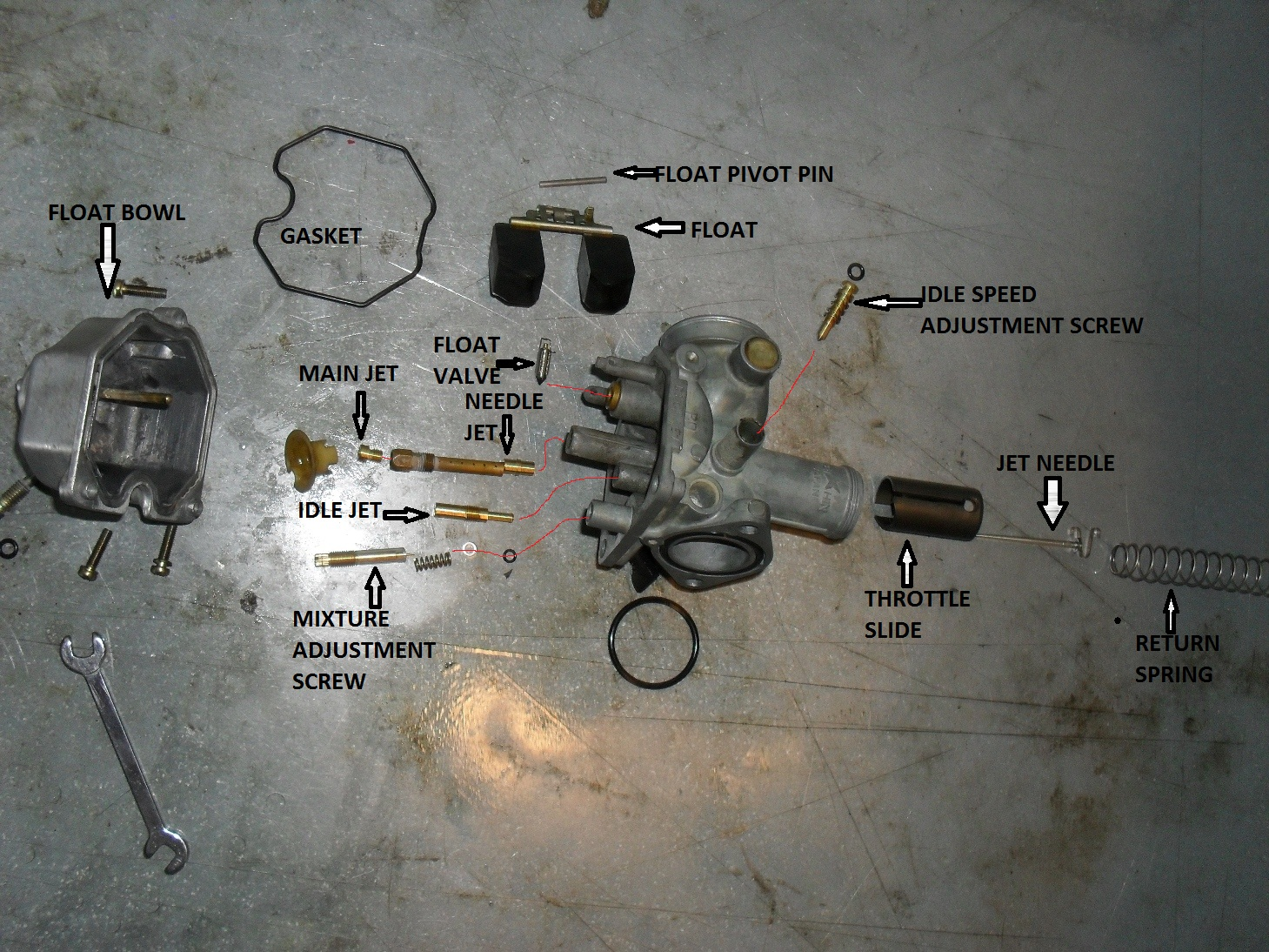 dirtbike carb 101 part 3 lets put it back together rh motopsyco com honda xr100 carburetor parts honda xr100 carburetor parts
