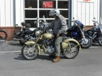 motopsyco on Enfield Classic 500 with Desert Storm paint