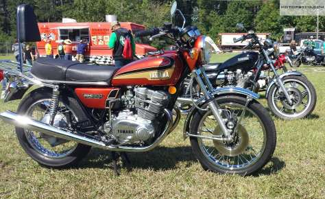 1973 TX500 @ rails roads motorcycle show