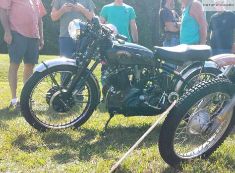 1952 Vincent at the Rails & Roads Motorcycle Show