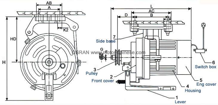 72 Sewing motor| Clutch motor| electric motor-Single phase