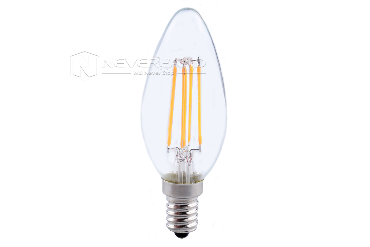 E14 4w Edison Style Led Cob Filament Candle Light Lamp Xmas Energy Saving Bulb