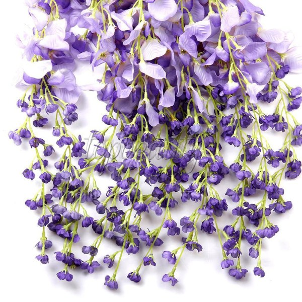 1pc Artificial Silk Wisteria Fake Home Garden Flower Plant